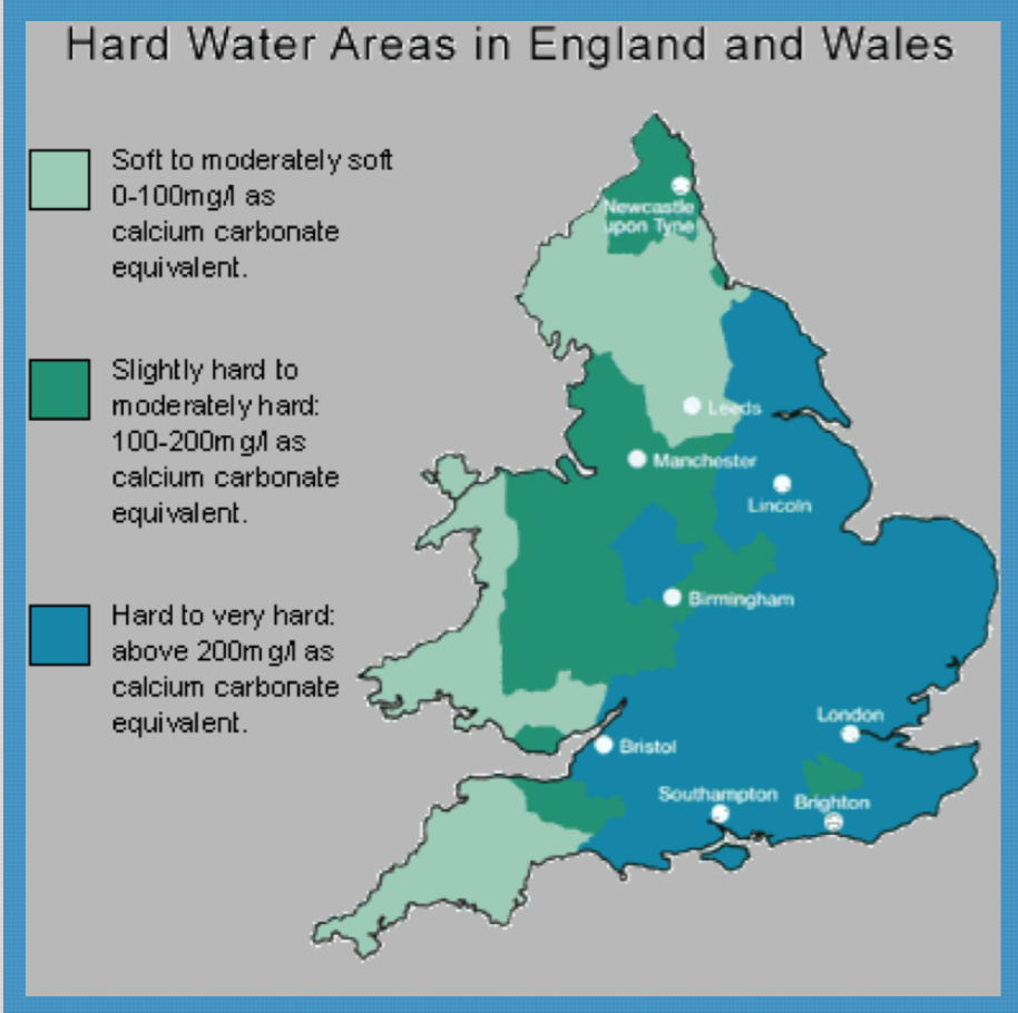 Hard Water Areas >> Do You Live In A Hard Water Area